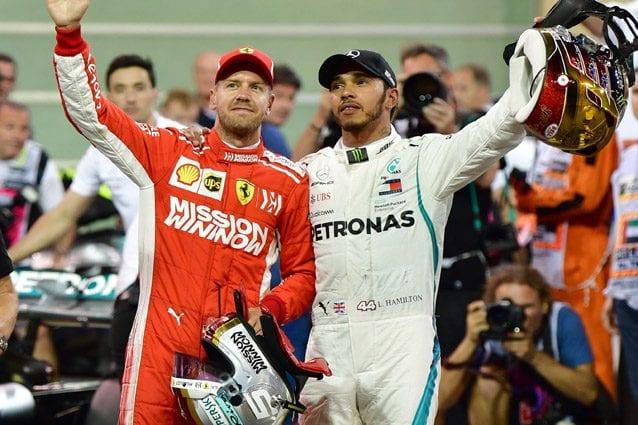 Vettel e Hamilton in Bahrein – Getty Images